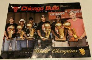 "Chicago Bulls Mini-Poster ""Six-Time World Champions"" 1991, 92, 93, 96, 97 & 98."
