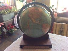 "RARE 12"" Replogle Standard Pre World War II Globe With Rand McNally World Atlas"