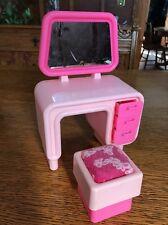 Vintage 70's Barbie Dream Furniture Dresser Vanity Stool and extras