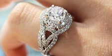 2.00CT Off White Moissanite Round Art Deco Engagement Ring 925 Sterling Silver 1