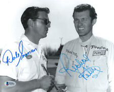 DALE INMAN & RICHARD PETTY DUAL SIGNED AUTOGRAPHED 8x10 PHOTO RARE BECKETT BAS