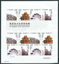 China 2008-20 Olympic Game from Beijing to London Sticker Mini S/S 奧運會從北京到倫敦 不幹膠