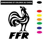 Sticker France Rugby Autocollant Coq France FFR adhésif voiture Coloris au choix