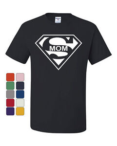 Super Mom T-Shirt Funny Superhero Parody Tee Shirt Mother's Day Gift Mommy Bday
