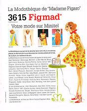 PUBLICITE ADVERTISING 104  1996  DESSIN IZAK  la MODOTHEQUE