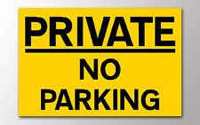 1 parking privé jaune No Signe Rigide 3 mm