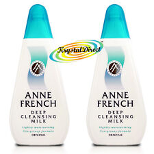 2x Anne French Deep Cleanser Moisturising Facial Face Cleansing Milk 200ml