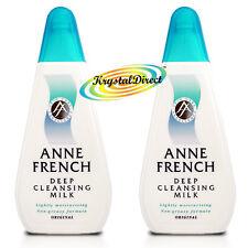 2x Anne French Deep Cleanser Moisturising Facial Face Cleansing Milk 200ml