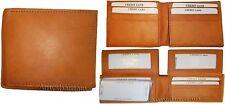 Men's Wallet Lot of 3 Bi fold Leather Wallet 12 Credit Cards 2 IDs 2 Billfolds.
