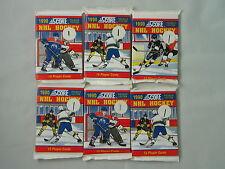SIX (6) 1990 SCORE NHL HOCKEY PACKS FACTORY SEALED