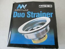 """Matco-Norca Duo Sink Strainer Model Ss-100, Fits 3.5"""" to 4"""" Openings, Nib"""