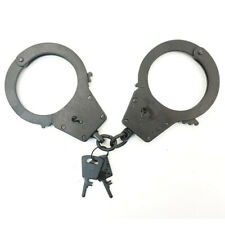 Police Handcuffs bracelets for police armed BRS black , galvanized steel