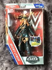WWE Elite Becky Lynch Autographed Signed Wrestling Action Figure Proof COA MINT