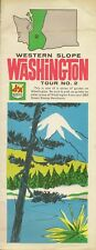 1962 S&H GREEN STAMPS Road Map SEATTLE WORLD'S FAIR Washington Western Slope