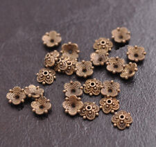 100Pcs 8mm Flower Bead Caps Floral Spacer Beads 8MM DIY Tibetan Silver Alloy