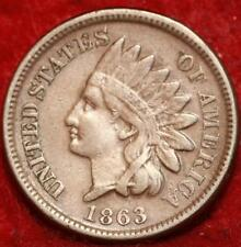 ":Scarce 1863 INDIAN HEAD ""COPPER NICKEL"" ONE CENT,  Scarce Civil War Era COIN #3"