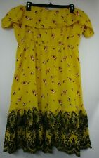 NWT ASOS Yellow Floral Strapless Dress Womens US sz 14
