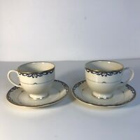 "Lenox China Presidential Collection ""Liberty"" Two (2) Tea Cups & Saucers"