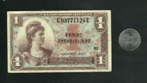 * MPC Military Payment Certificate Series 521, $1 Dollar Note, VF Circulated