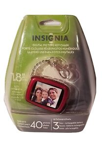 """Insignia Digital Picture Key Chain - Holds Up To 40 Pictures 1.8"""" LCD New Sealed"""