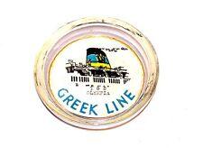 Vintage TSS Olympia Greek Line Cruise Ship Ocean Glass Advertising Ashtray Ofr