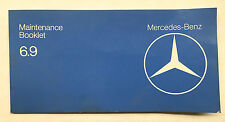 "Mercedes W116 Maintenance Booklet 450SEL 6.9 1979 ""Rare""!!!"