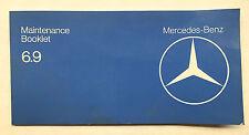 "Mercedes W116 Maintenance Booklet 450SEL 6.9 1979 ""Rare""!!!"