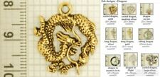 Dragon decorative fobs, various designs & watch chain options
