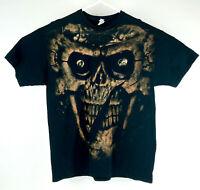 Skull Skeleton Big Graphic Face Mens T Shirt Size XLarge Black Halloween