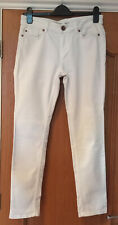 Oasis Cherry Crop Jeans - White, Size 12