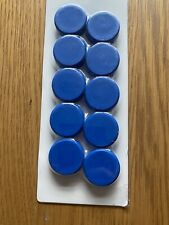 10PK BLUE FRIDGE MAGNETS WHITEBOARD STRONG