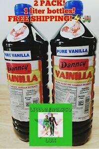 Danncy Dark Mexican Vanilla Extract 2 x 1 Liter Bottles, FREE PRIORITY SHIP⚡🚚