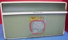 Vintage 1970s West Bend Metal & Plastic Bread Bin Breadbox Thin-Line Green Clean