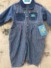 NWT Vintage OshKosh Baby B'Gosh Infant Striped Denim...