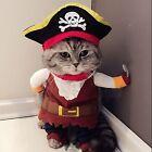 Cat Pirate Costume Suit Cat Clothes Corsair Halloween Costume Puppy Suit Dress