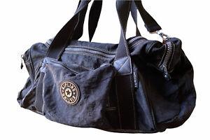 Vintage Kipling Anatomy Medium Travel Duffle Bag Black