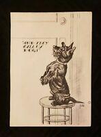 2 Funny Vintage 1930's Zito Cartoon Prints Boston Terrier Dog Pet Great Graphics