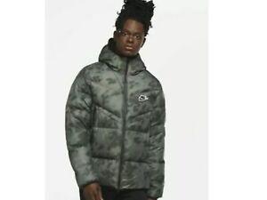 Men's Nike NSW Down-Fill Wind-runner Jacket CU4406 397 Green/Black-White Size XS