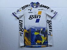 Stretched Waist Vtg 90s Greg Lemond GAN Tour de France Bike Cycling Jersey Sz L