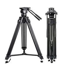 ZOMEI VT666 Aluminum Tripod Fluid Pan Head For Camcorder DV Video Camera DSLR