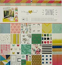 Crate Paper  Maggie Holmes  (SHINE)  12x12 Paper Pad - 48 Sheets - Save 60%