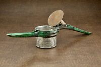 Vintage Potato Rice Ricer Masher Strainer with Green Metal Handle