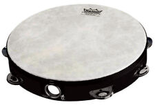 REMO - 10 Inch Tambourine Fiberskyn 3 *NEW* Percussion, 8 Pairs Of Jingles