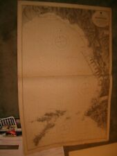 Vintage Admiralty Chart 150 FRANCE - MARSEILLE 1913 edition