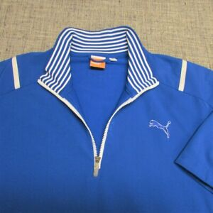 PUMA STORM CELL POLY SPANDEX SHORT SLEEVE GOLF PULLOVER--XL--TOP QUALITY!!