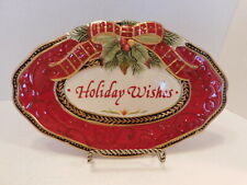 Fitz & Floyd Damask Holiday Merry Christmas 2018 Collector's Plate In Orig Box