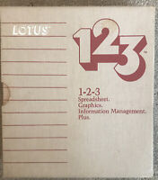 1984 Lotus 123 Spreadsheet Graphics Info Management Plus Floppy Software