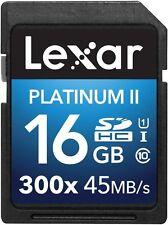 Lexar Platinum II 300X 16GB SD SDHC UHS-I Class 10 Memory Card For Camera DSLR