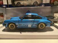 Porsche 911 3.0 Carrera Blue 1:18 Scale Diecast Model Car S1802601 New - Solido