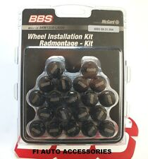 BBS LOGO BLACK LUG BOLTS FOR BMW WITH 14X1.25  CONE SEAT {open box}